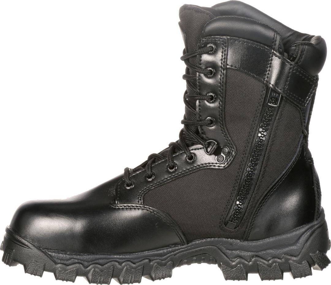 e1003597e3a Rocky Men's AlphaForce Zipper Waterproof Work Boots