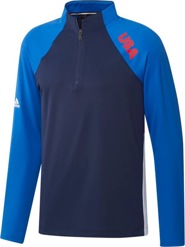 adidas Men's USA Olympic Midweight Recycled Polyester 1/4 Zip Golf Pullover product image