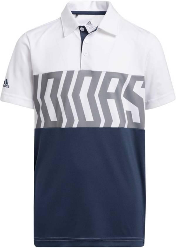 adidas Boys Print Block Primegreen Polo Shirt product image