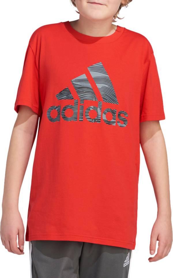 adidas Boys' Short Sleeve Camo Badge Of Sport T-Shirt product image