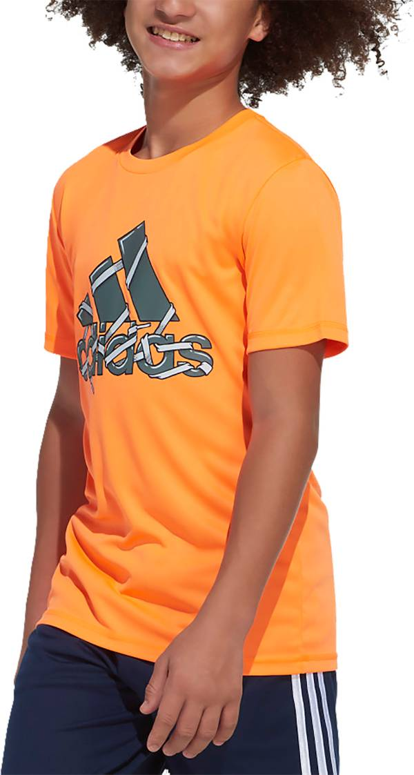 adidas Boys' AEROREADY Shoelace Badge of Sport T-Shirt product image