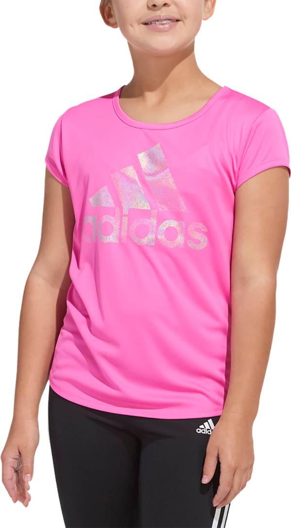adidas Girls' AEROREADY Badge of Sport Graphic T-Shirt product image