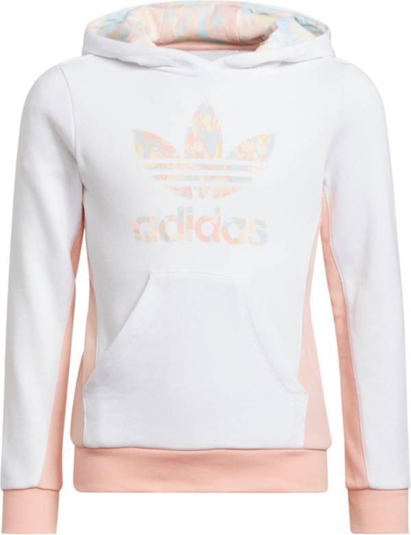 adidas Girls' Marble Logo Colorblock Trefoil Hoodie product image