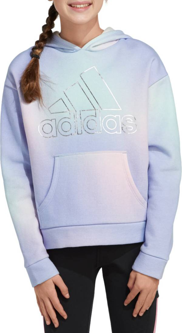 adidas Girls' Gradient Fleece Hoodie product image