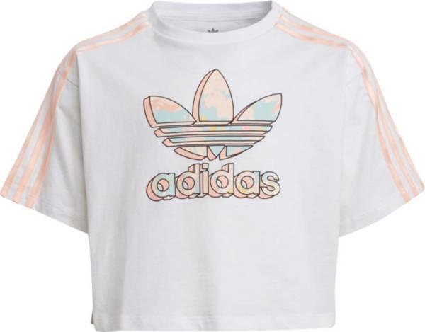 adidas Girls' Marble Logo Boxy Cropped T-Shirt product image