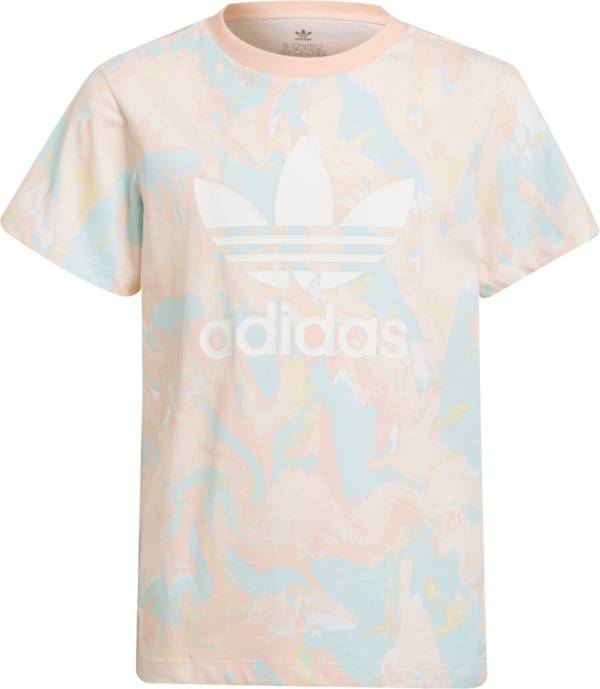 adidas Girls' Allover Print Marble T-Shirt product image