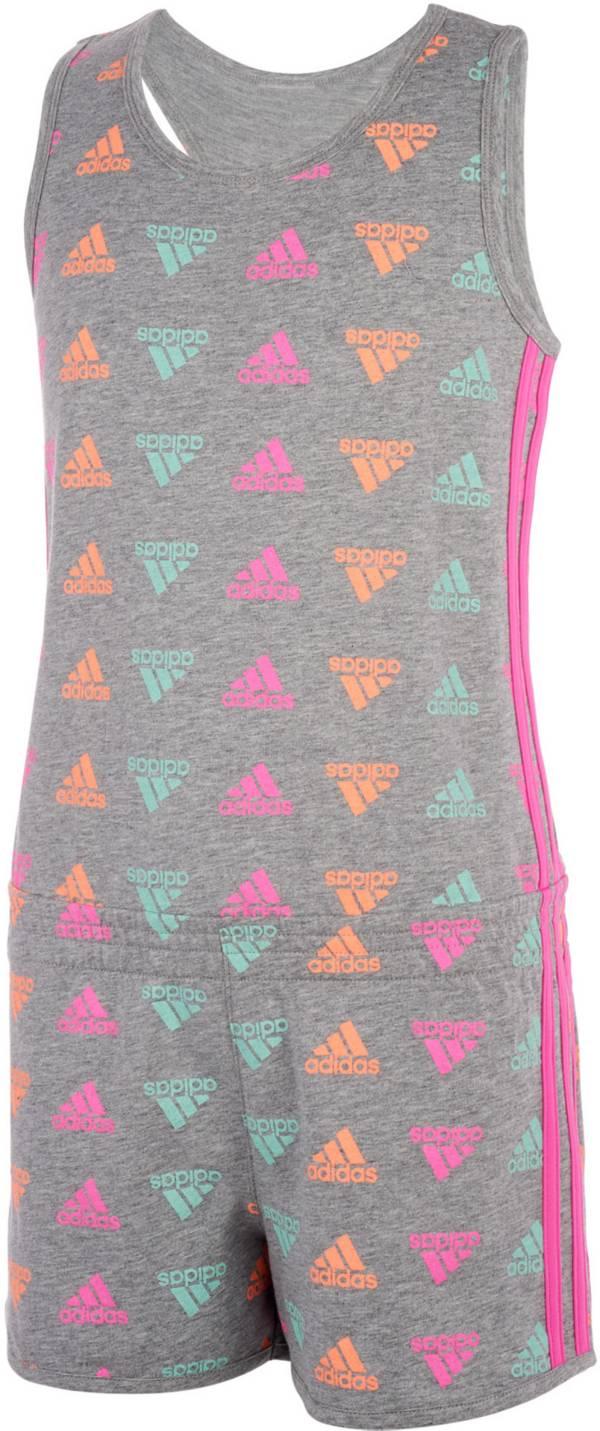 adidas Little Girls' Brand Love Print Sleeveless Romper product image