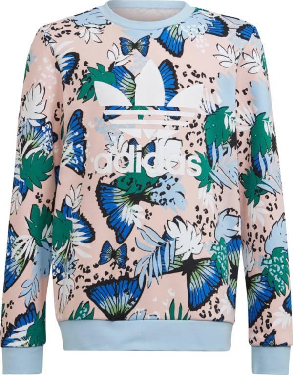 adidas Girls' HER Studio London Animal Flower Print Crew Sweatshirt product image