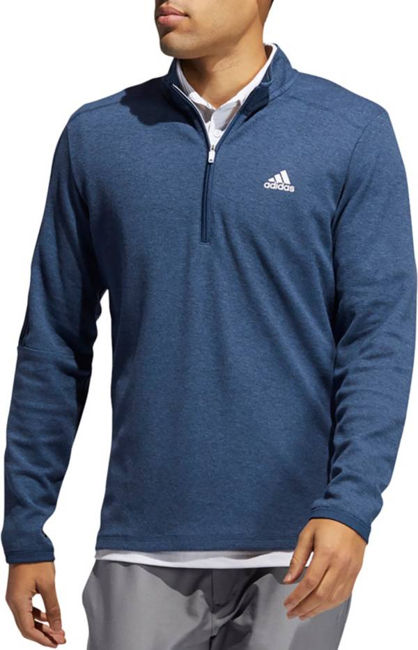 Adidas Men's 3-Stripes Recycled Polyester 1/4 Zip Golf Pullover