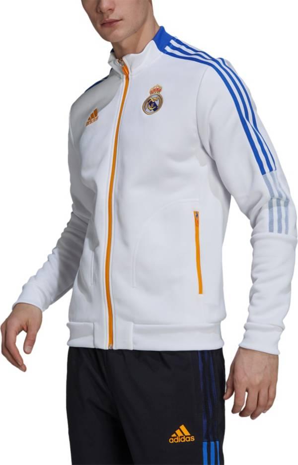 adidas Men's Real Madrid Anthem White Track Jacket product image
