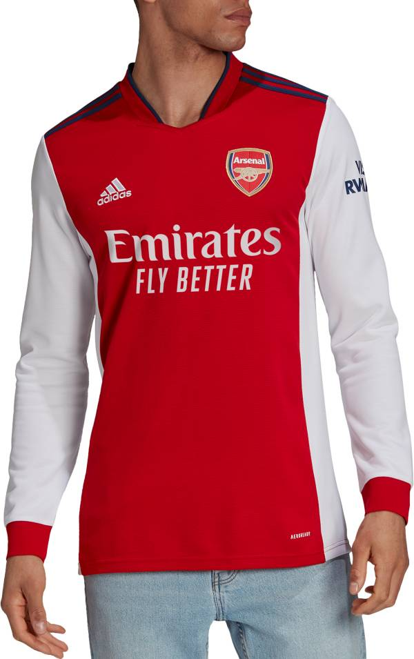 adidas Men's Arsenal '21 Long Sleeve Home Replica Jersey product image