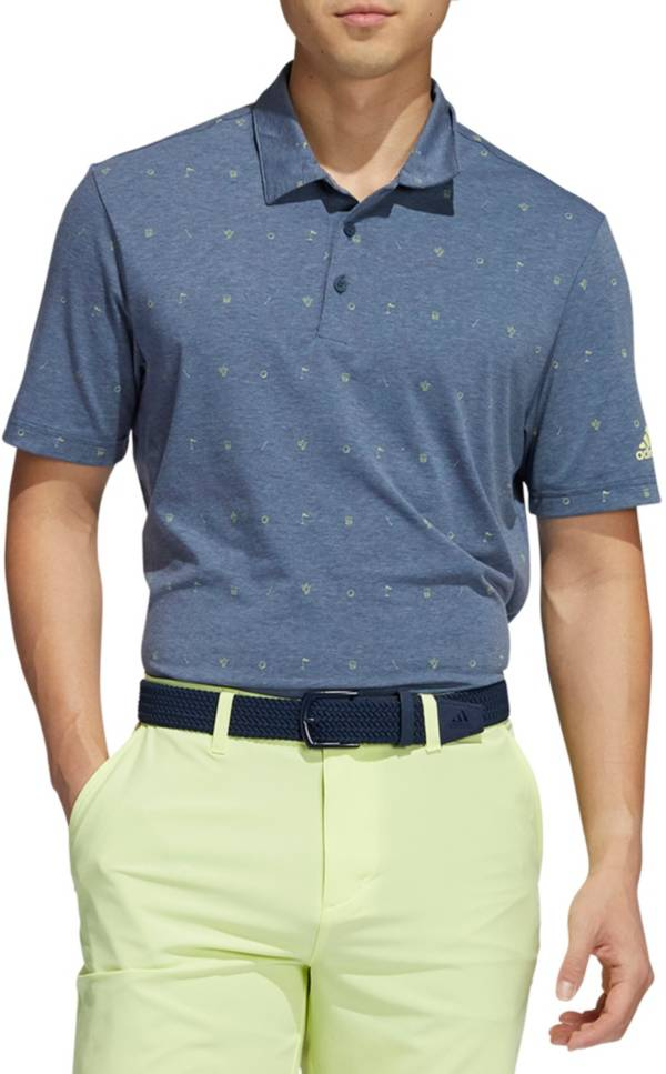 Adidas Men's All Over Print Primegreen Golf Polo product image