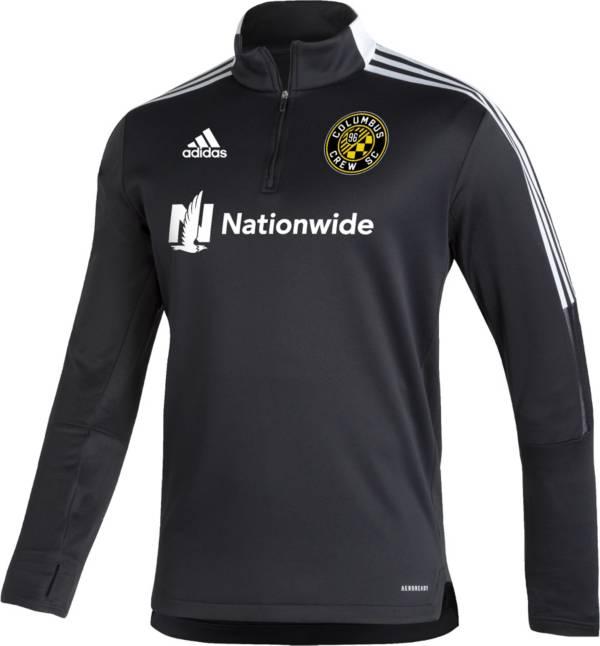 adidas Men's Columbus Crew Black Training Quarter-Zip Pullover Shirt product image