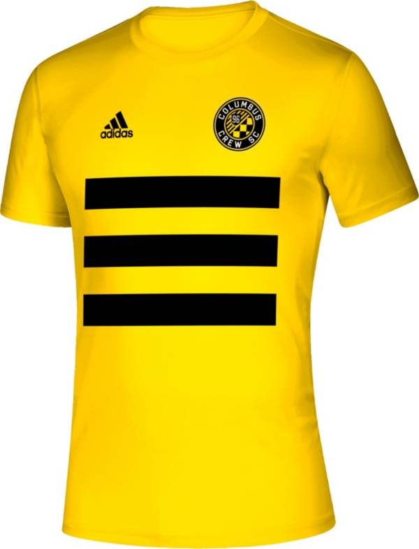 adidas Men's Columbus Crew 3SL Yellow T-Shirt product image