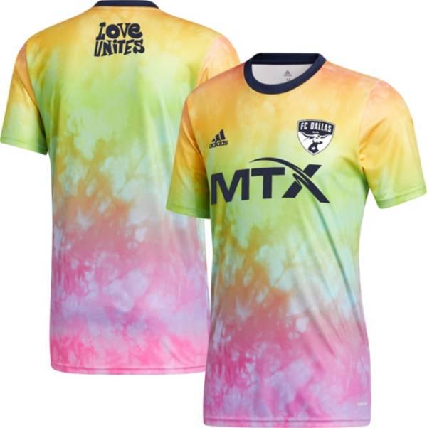 adidas Men's FC Dallas Tie-Dye Pride Jersey product image