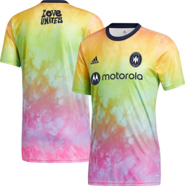 adidas Men's Chicago Fire Tie-Dye Pride Jersey product image