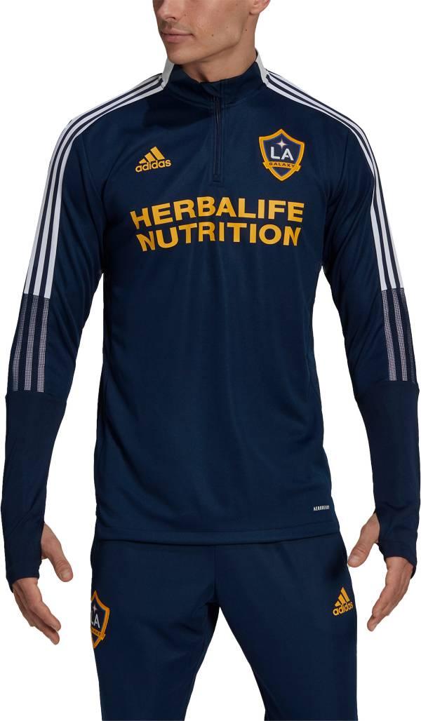 adidas Men's Los Angeles Galaxy Navy Training Quarter-Zip Pullover Shirt product image