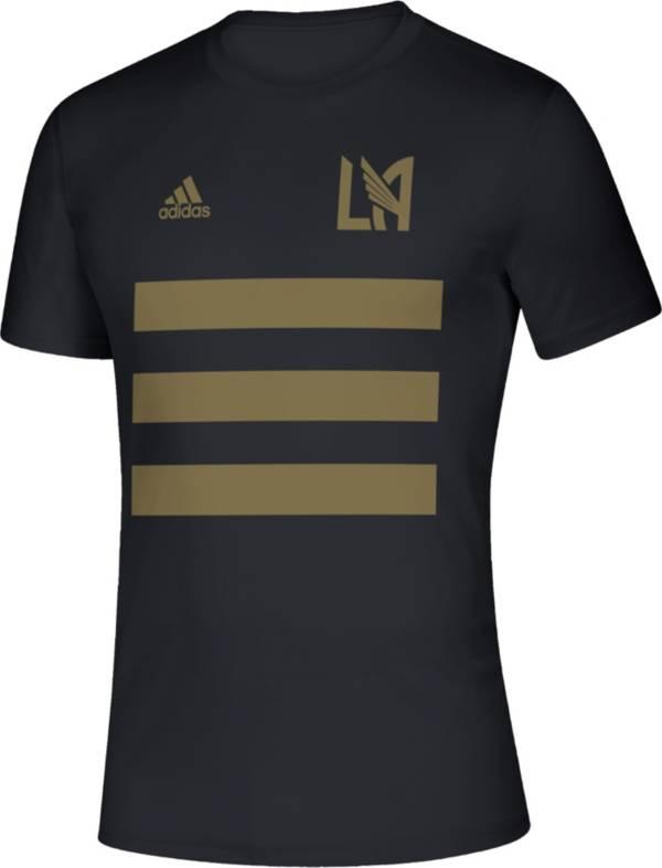 adidas Men's Los Angeles FC 3SL Black T-Shirt product image