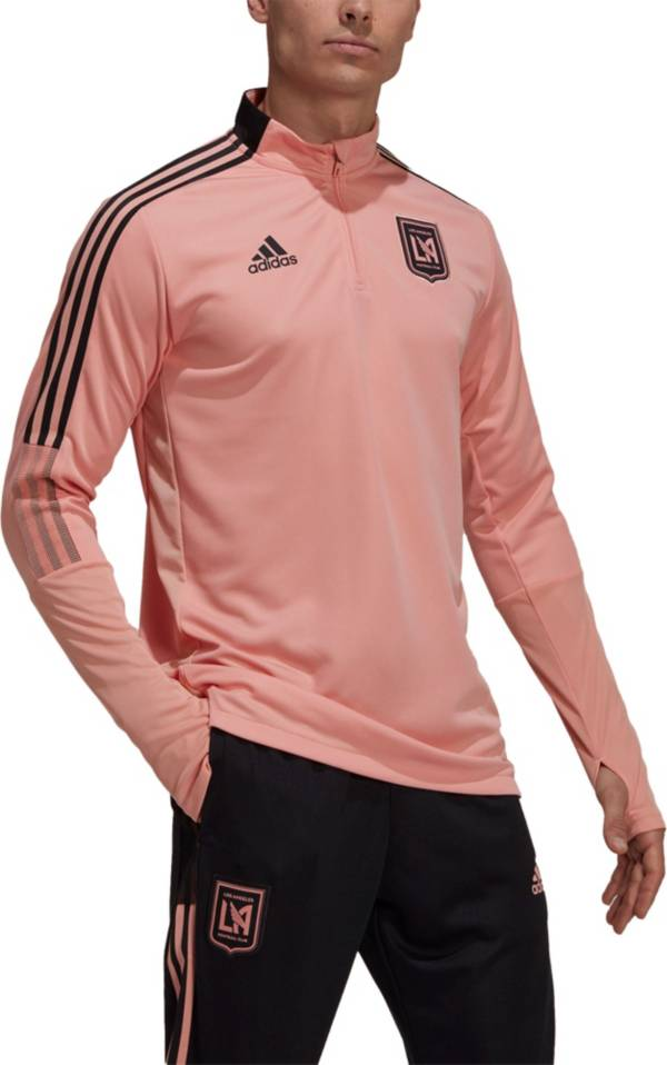 adidas Men's Los Angeles FC Gold Training Quarter-Zip Pullover Shirt product image