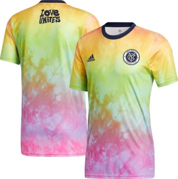 adidas Men's New York City FC Tie-Dye Pride Jersey product image