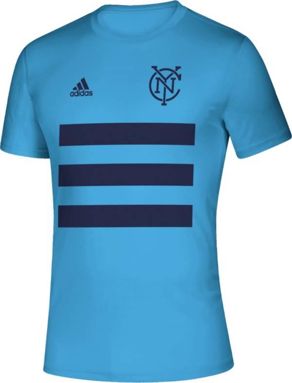 adidas Men's New York City FC 3SL Blue T-Shirt product image