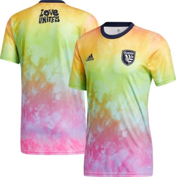 adidas Men's San Jose Earthquakes Tie-Dye Pride Jersey product image