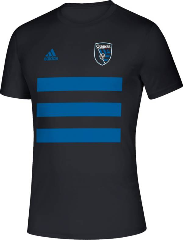 adidas Men's San Jose Earthquakes 3SL Black T-Shirt product image