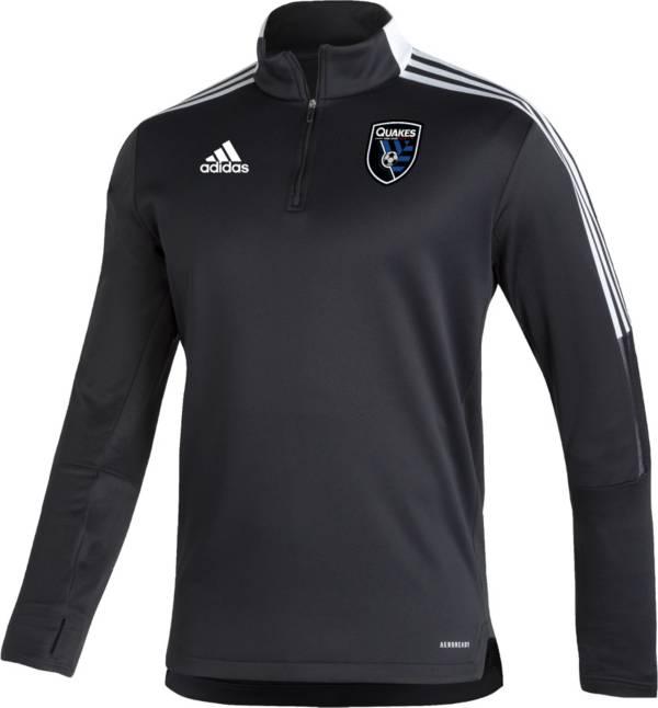 adidas Men's San Jose Earthquakes Black Training Quarter-Zip Pullover Shirt product image