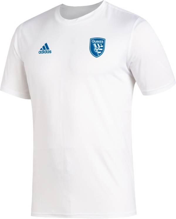 adidas Men's San Jose Earthquakes Megs White T-Shirt product image