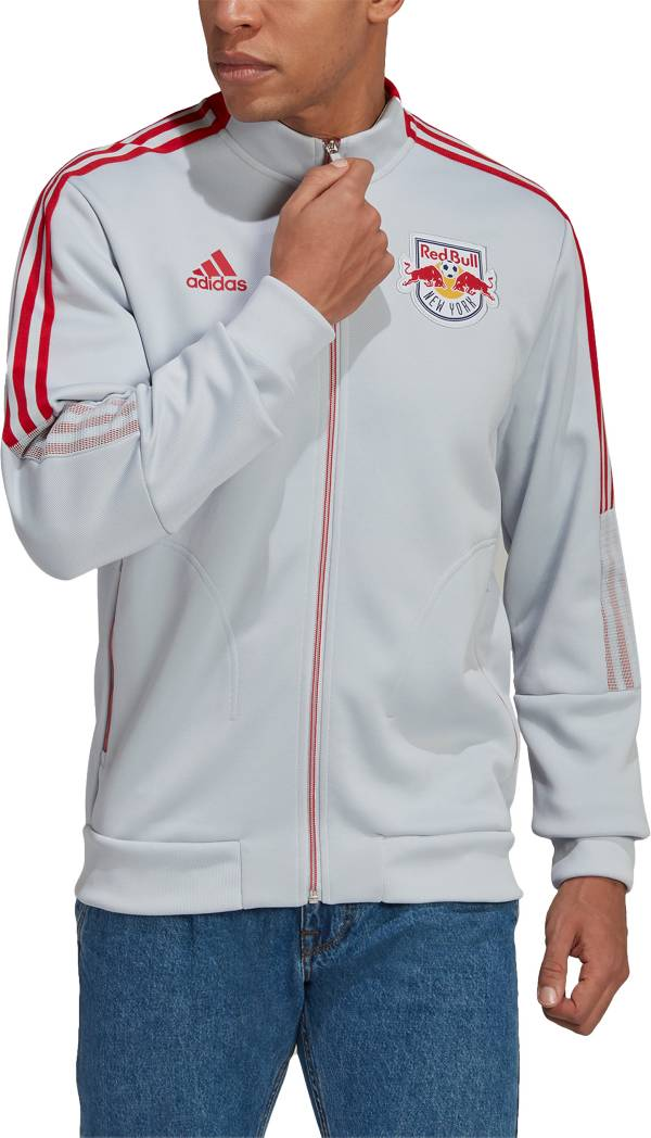 adidas Men's New York Red Bulls Anthem Grey Jacket product image