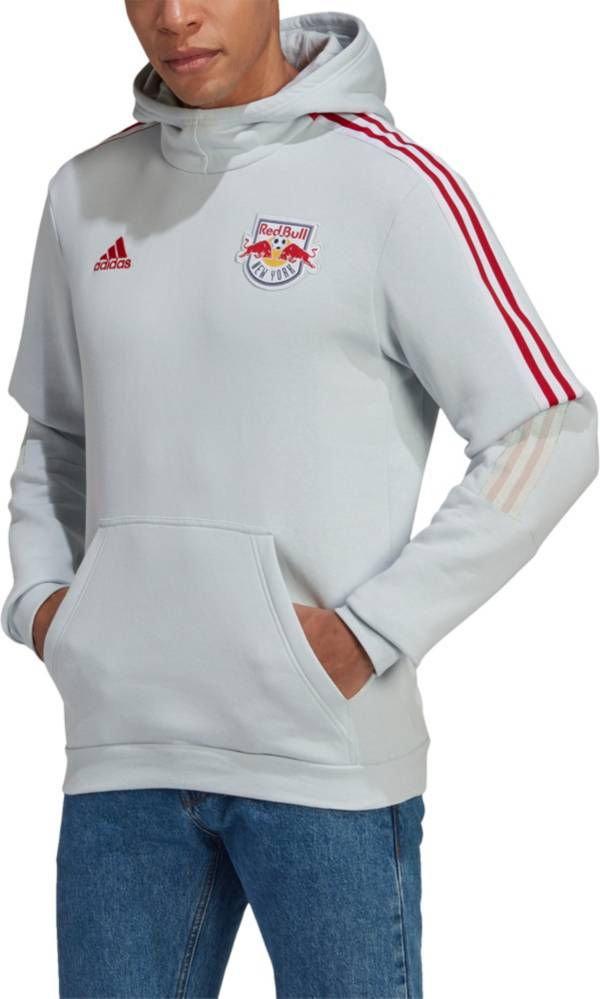 adidas Men's New York Red Bulls Travel Grey Pullover Hoodie product image