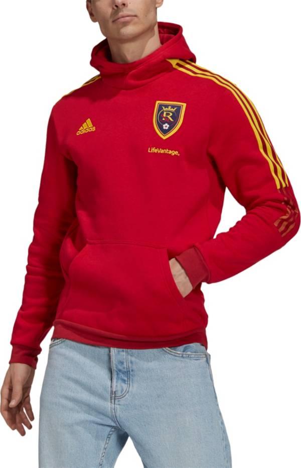 adidas Men's Real Salt Lake Travel Maroon Pullover Hoodie product image