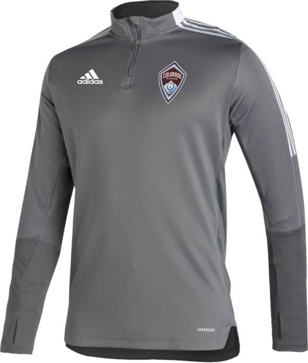 adidas Men's Colorado Rapids Gray Training Quarter-Zip Pullover Shirt product image