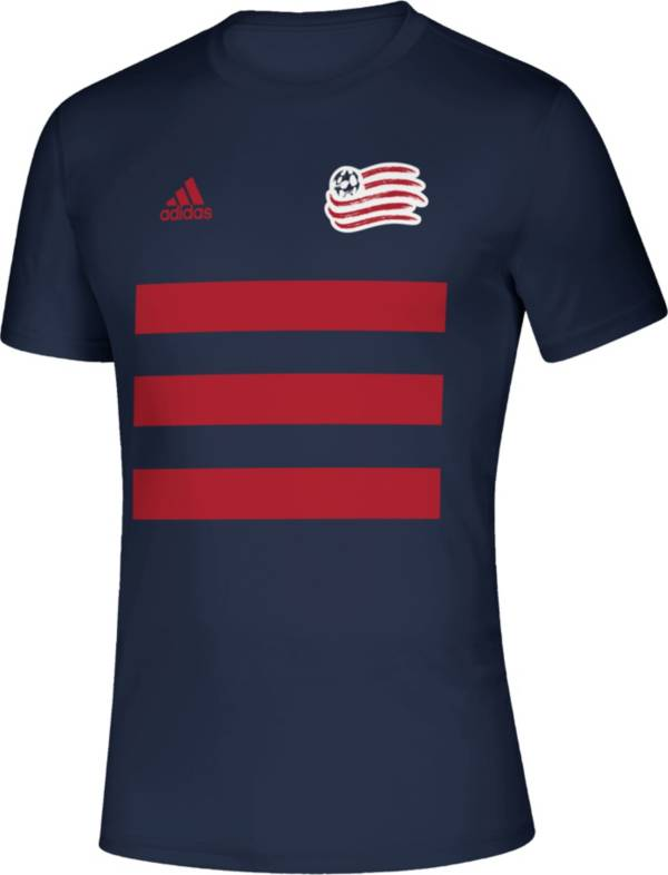 adidas Men's New England Revolution 3SL Navy T-Shirt product image