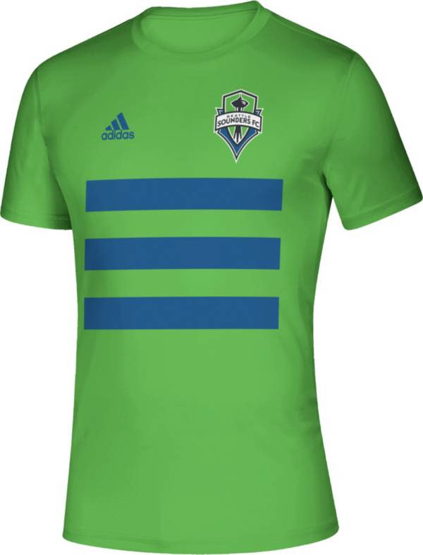 adidas Men's Seattle Sounders 3SL Green T-Shirt product image