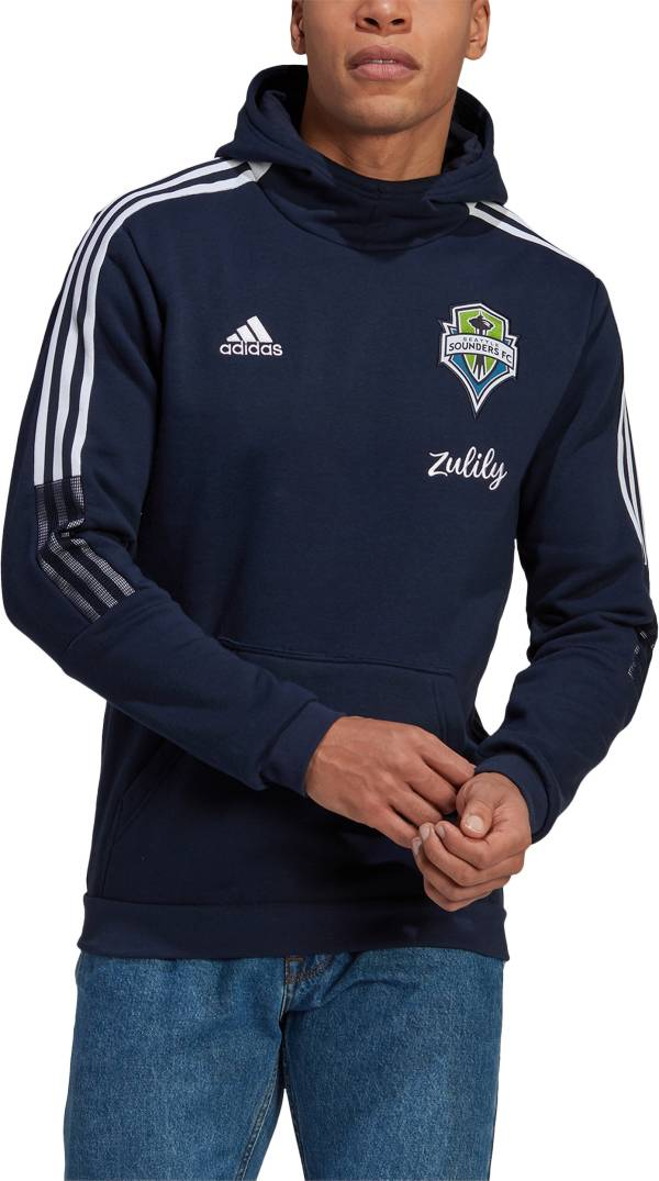 adidas Men's Seattle Sounders Travel Navy Pullover Hoodie product image