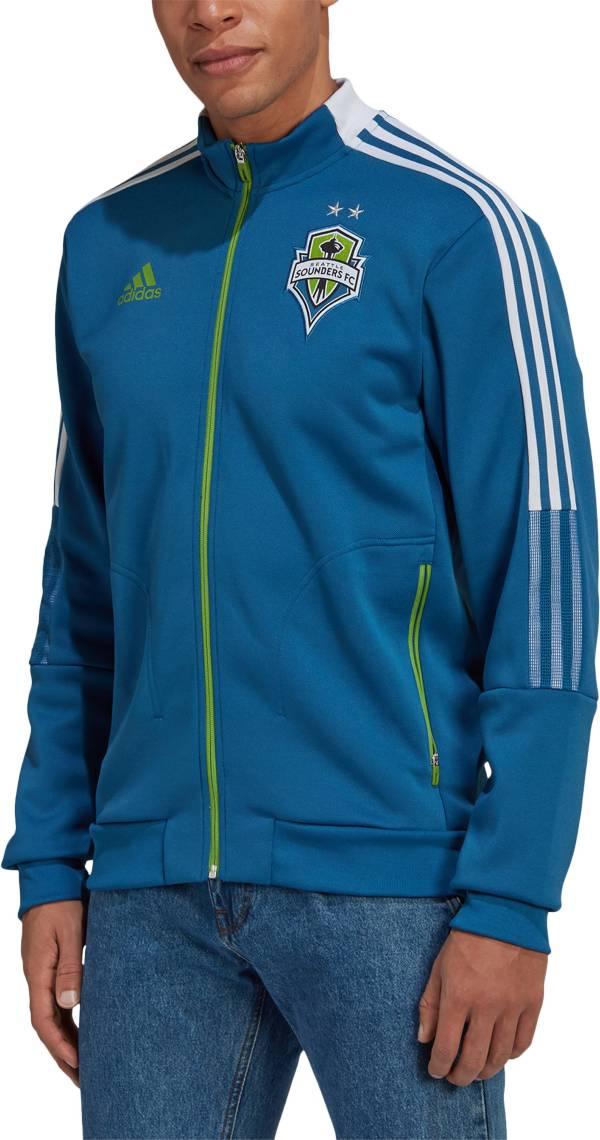 adidas Men's Seattle Sounders Anthem Teal Jacket product image
