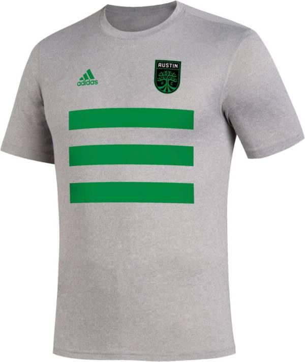adidas Men's Austin FC Creator Pitch Heather Grey T-Shirt product image