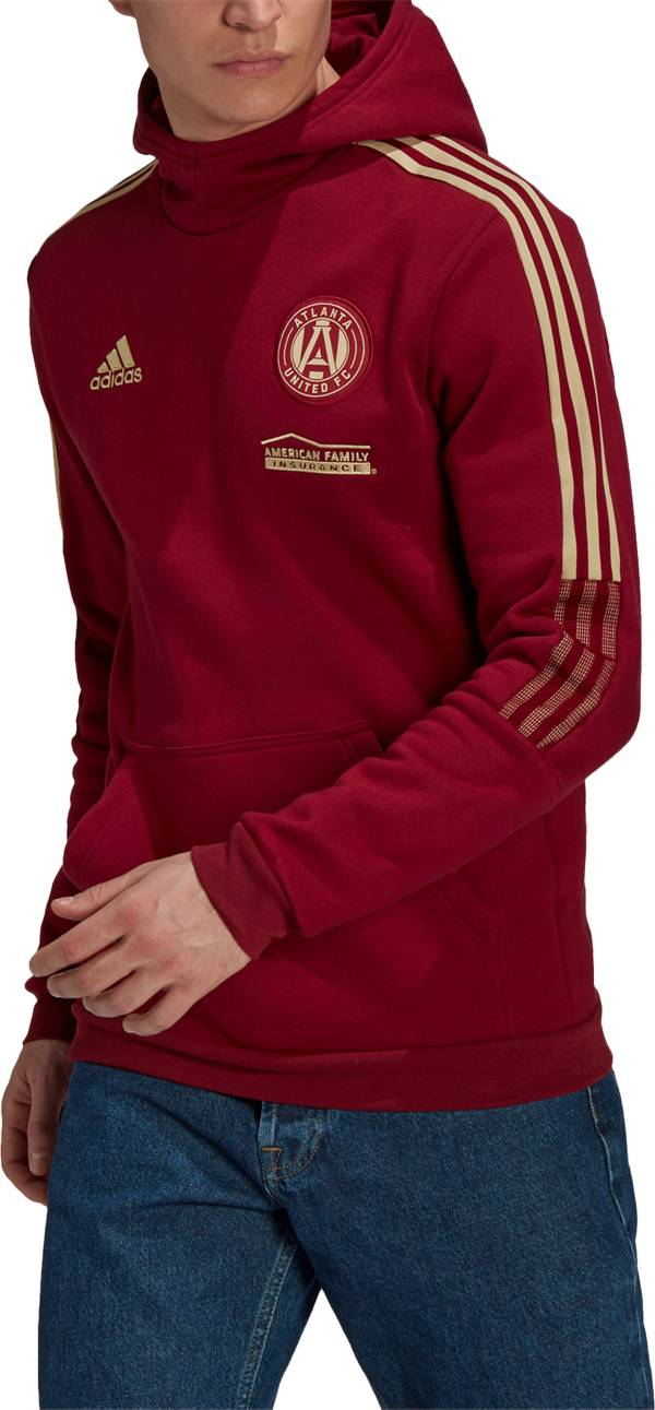 adidas Men's Atlanta United Travel Red Pullover Hoodie product image