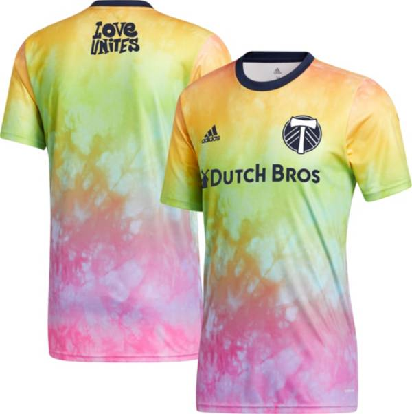 adidas Men's Portland Timbers Tie-Dye Pride Jersey product image