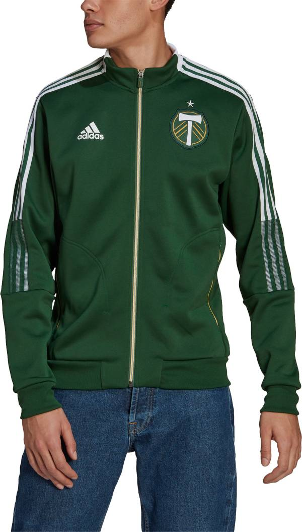adidas Men's Portland Timbers Anthem Green Jacket product image