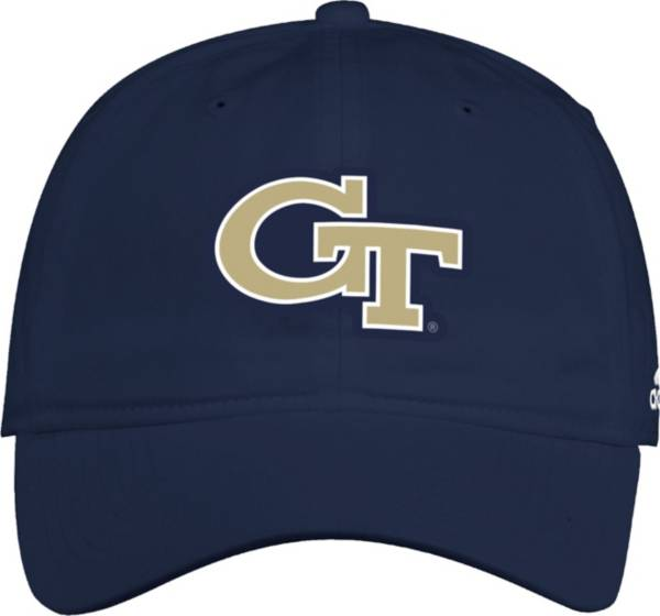 adidas Men's Georgia Tech Yellow Jackets Navy Slouch Adjustable Hat product image