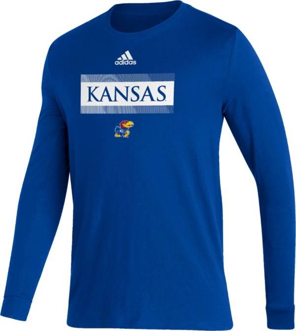 adidas Men's Kansas Jayhawks Blue Amplifier Locker Room T-Shirt product image