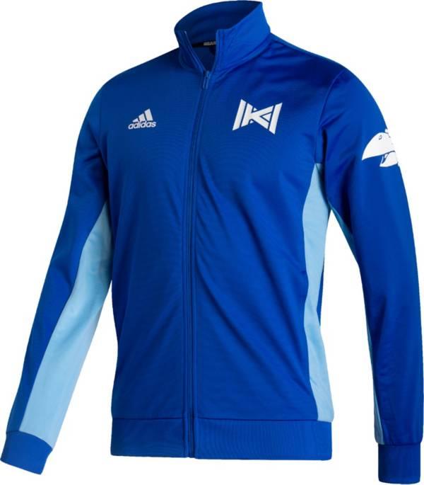 adidas Men's Kansas Jayhawks Blue Reverse Retro Full-Zip Jacket product image
