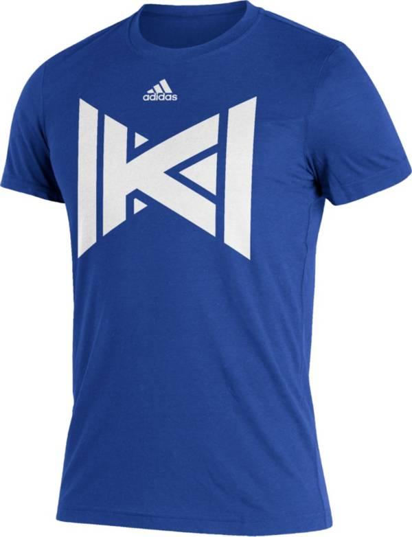 adidas Men's Kansas Jayhawks Blue Reverse Retro T-Shirt product image