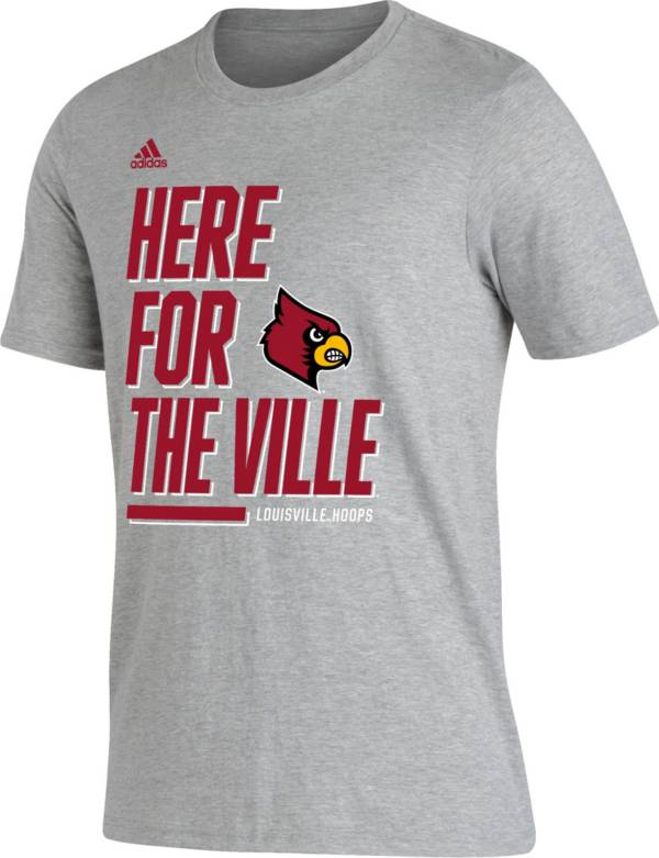 adidas Men's Louisville Cardinals 'Here For' Bench T-Shirt product image