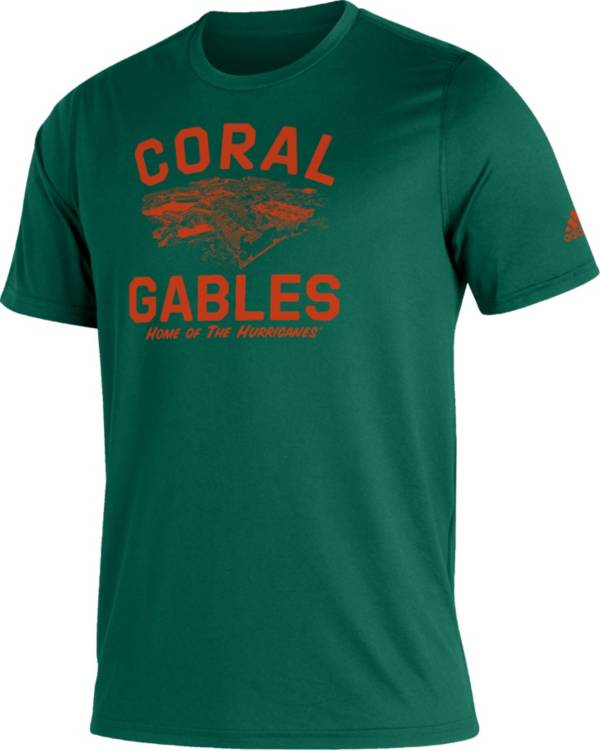 adidas Men's Miami Hurricanes Green Great Place Creator  T-Shirt product image