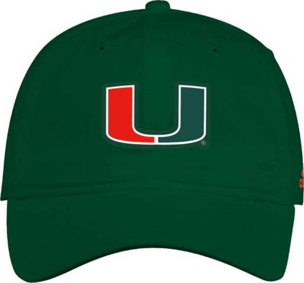 adidas Men's Miami Hurricanes Green Slouch Adjustable Hat product image