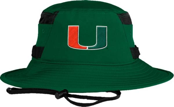 adidas Men's Miami Hurricanes Green Victory Performance Hat product image
