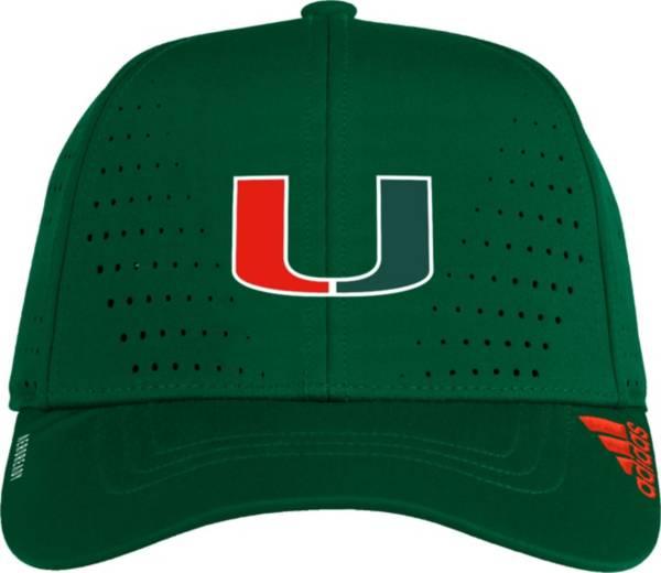 adidas Men's Miami Hurricanes Green Performance Adjustable Hat product image